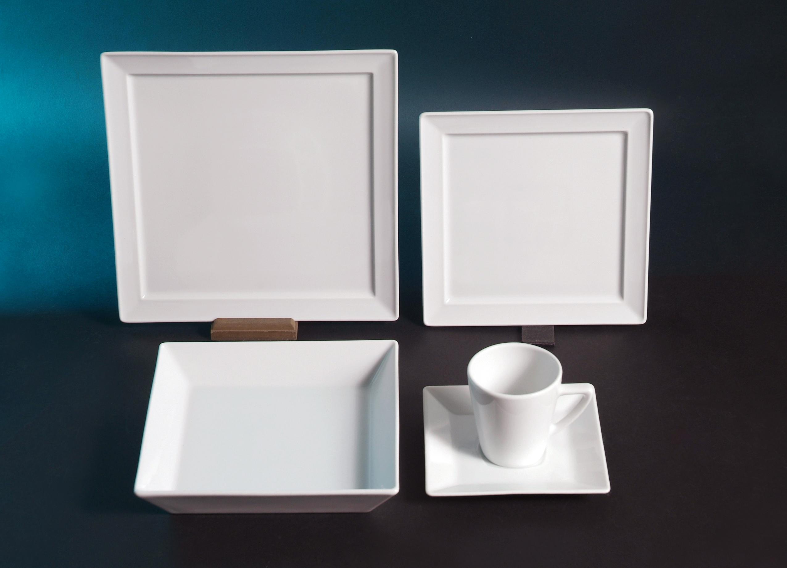 Villa Table das Porzellanhaus  Quadrat Creatable Quadro  ~ Geschirr Quadro
