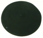 Place Mat Set Black Round 6 pieces