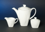 Deluxe White Coffee Set 3 pieces